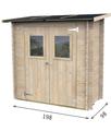Twig - Casetta hobby monopendenza in legno di abete porta doppia 198x98 - sp 20mm - non trattata
