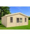 Bricoshop24 - Casetta 45 mm in Legno 6x6 Giardino Rimessa Attrezzi Blockhouse Box Ripostiglio - Opzioni: Casetta + veranda