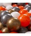 KIDDYMOON 300 ? 7CM Palline Morbide Colorate Per Piscina Bambini Fatto In EU, Arancione/Argento/Oro/Bianco - arancione/argento/oro/bianco - Kiddymoon
