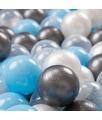 KIDDYMOON 300 ? 7CM Palline Morbide Colorate Per Piscina Bambini Fatto In EU, Trasparente/Argento/Perla/Azzurro - trasparente/argento/perla/azzurro - Kiddymoon