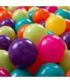 KiddyMoon 50 ? 7CM Palline Morbide Colorate Per Piscina Bambini Fatto In EU, Verde Ch/Giallo/Turchese/Arancione/Rosa Sc/Viola - verde