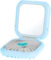 ASUPERMALL Portable Fan mini ventilatore tenuto in mano pieghevole con trucco dello specchio cordino batteria 3000mAh Banca di potere elettrica Fan