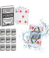 RELAXDAYS Set da 10 Mazzi di Carte da Poker Plastificate, Impermeabili, Carte da Gioco Resistenti, 540 Carte, Set da Poker, Bianche