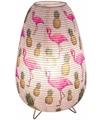 ETC-SHOP Lampada da tavolo in carta lettura camera per gli ospiti fenicottero lampada a forma di ananas in un set con illuminante a LED