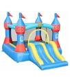 Bricoshop24 - Castello Gonfiabile Grande Scivolo Doppio Gioco per Bambini Tappeto Saltarello