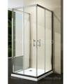 Yellowshop - Box doccia quadrato apert. angolare + lato fisso cm 80x80x80x195 cristallo temperato 6 mm trasparente