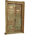 BISCOTTINI Porta portone in legno massello e ferro da interno o da esterno vecchia e antica medievale con telaio