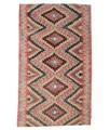 Annodato a mano. Provenienza: Turkey Tappeto Orientale Kilim Semi-Antichi Turchi 182X300 Marrone/Grigio Chiaro (Lana, Turchia)