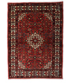 Annodato a mano. Provenienza: Persia / Iran Tappeto Hosseinabad 107X146 Rosso Scuro (Lana, Persia/Iran)